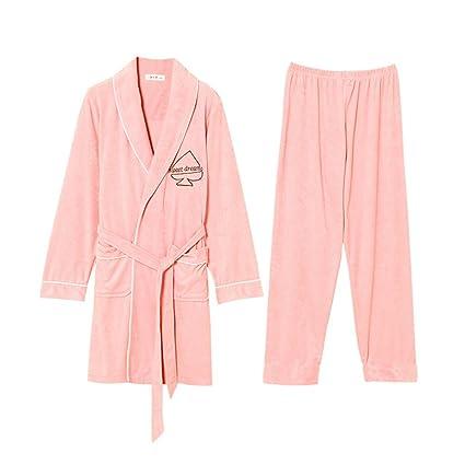 Xing Hua home Las Parejas Usan Batas de baño largas Pijamas de Hombres de Primavera y ...