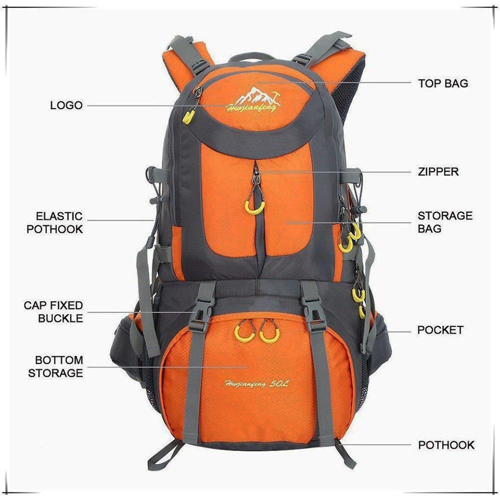 Mochila Trekking impermeable 55L & 50L, Mochilas para excursionismo montañismo deportiva Adecuado para hombre juveniles mochilas Camping senderismo al aire ...