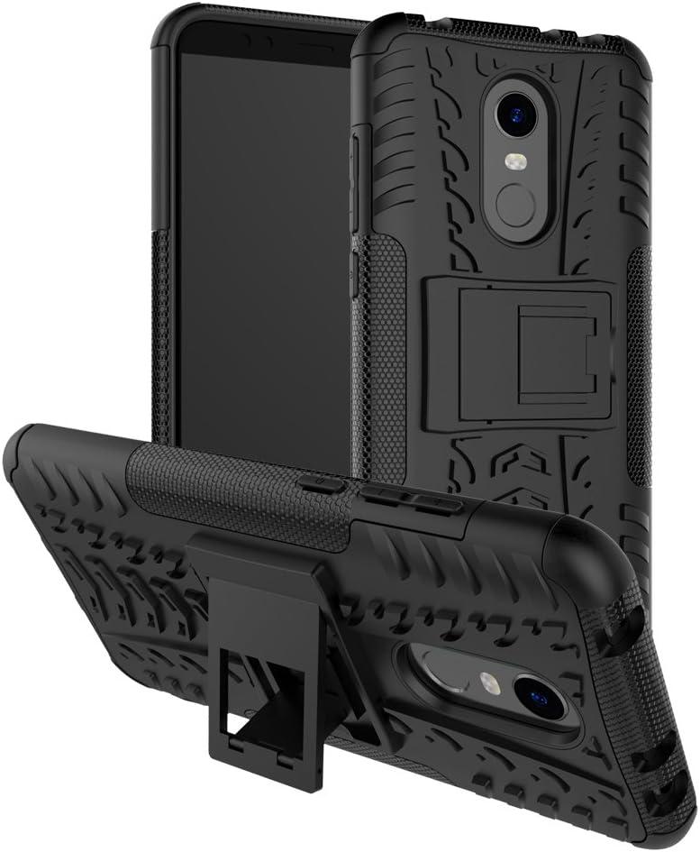 cover Xiaomi Redmi 5 Ruckway®,resistenza agli urti,antiscivolo,TPU+PC di miscelazione giacca a doppio[battistrada][duro]Caso(nero)
