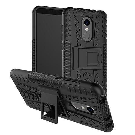 GOZAR Xiaomi Redmi 5 Plus Funda, Carcasa Protectora Antigolpes Armadura Doble Capas a Prueba de Choques Caída Protección Robusto con Soporte Case para ...