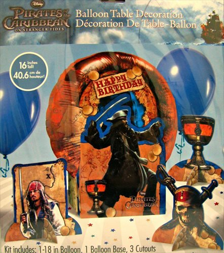 Pirates of the Caribbean 'On Stranger Tides' Table Balloon Decoration (1ct)