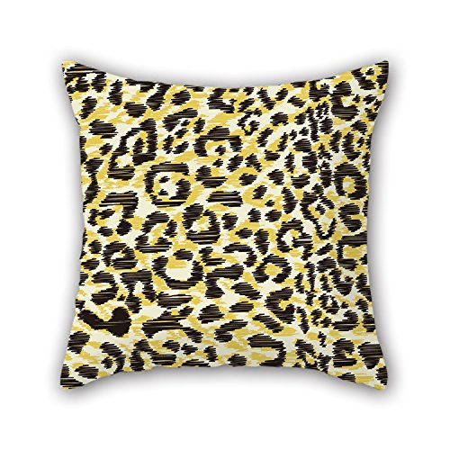 NICEPLW 16 X 16 Inches / 40 By 40 Cm Leopard Pillow Shams,twice Sides Is Fit For Floor,indoor,seat,kids Room,study Room,father