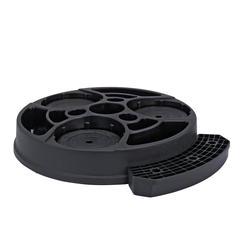 Service Ideas RRAP3BLK Roto Rack Airpot, Plastic, 3 Pot, Black
