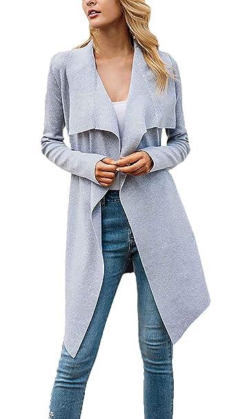 Abrigos Mujer Primavera Otoño Color Sólido Chaqueta Slim Fit Manga Larga Casual Chaqueta Outerwear Especial Estilo: Amazon.es: Ropa y accesorios