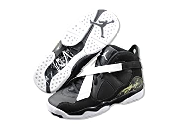 30910002f98 Image Unavailable. Image not available for. Colour: Air Jordan 8.0 GS  Basketball Shoes Black/Dark Charcoal/White ...