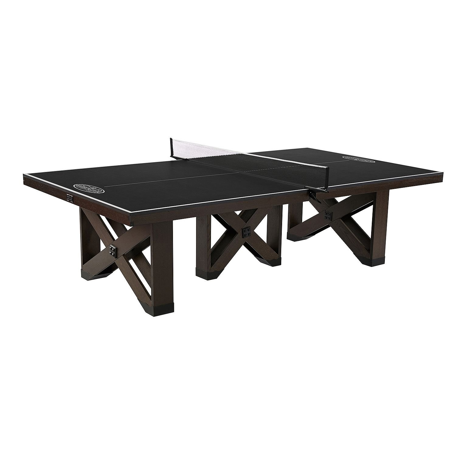 Official 9' x 5' Tournament Size Solid Wood Ping Pong Table Tennis Game