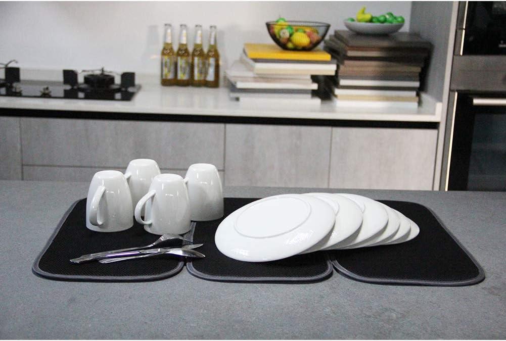16x18inch dish drainer mat microfiber dish mat Jovilife Dish Drying Mat,5pack dish drying mat kitchen 16x18In Navy 5pcs dish mat,