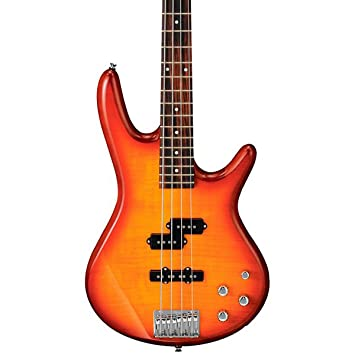 Amazon.com: Ibanez Gio GSR200FM Bass Guitar (Amber Burst): Musical ...