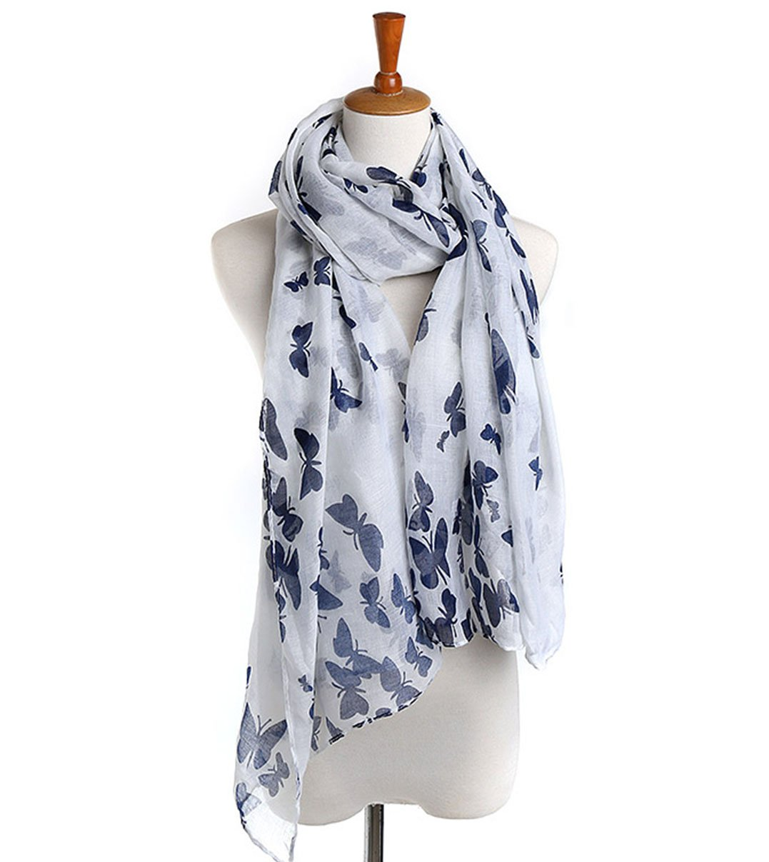 Apparelsales Women's Girls Voile Dog Print Shawl Scarf Scarf 74in(Length) 34in(Width) ColorA QLFA CA20151224-1