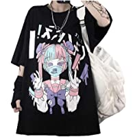 Black Sugar T-shirt voor dames, zwart, Kawaii, Emo Punk Gothic Goth Rock Hip Hop Japans model Large Top
