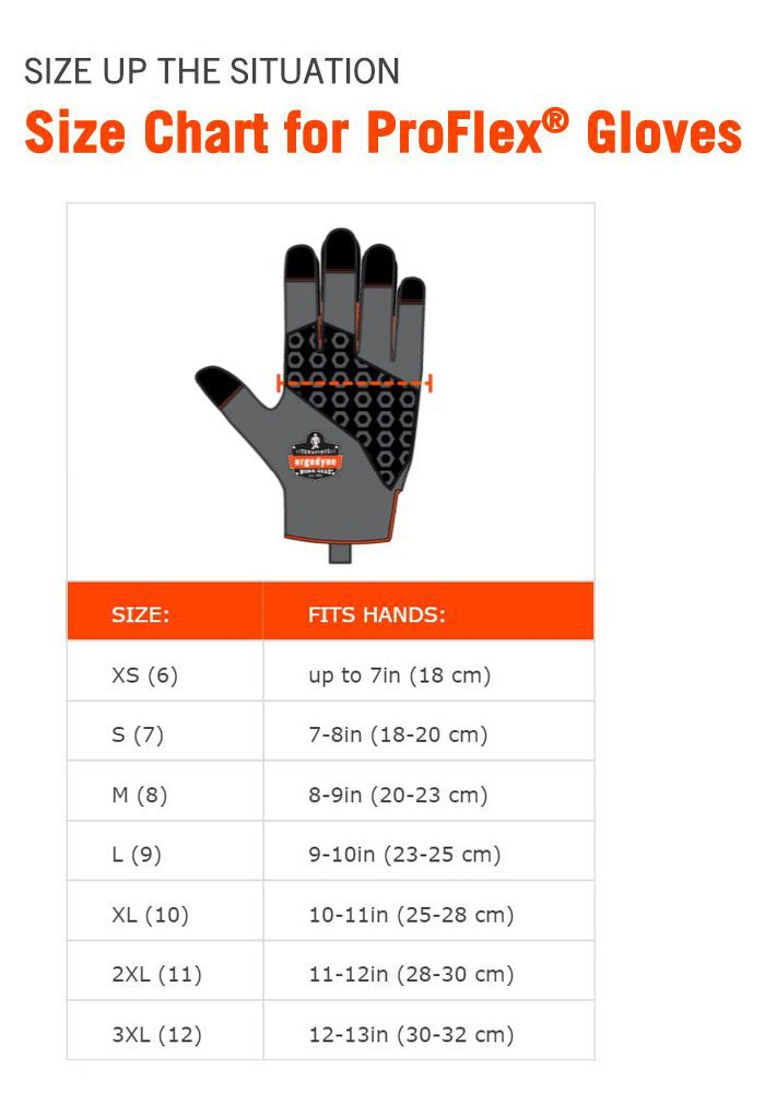 Black Ergodyne High Dexterity ProFlex 811 Work Glove Gripping Palm Medium