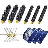 SHP-ZONE Aero Vac Filter & Bristle Brush & Flexible Beater Brush & 6-Armed Side Brush Pack Replenishment Mega Kit for iRobot Roomba 600 Series (620 630 650 660 680) Vacuum Cleaning Robots