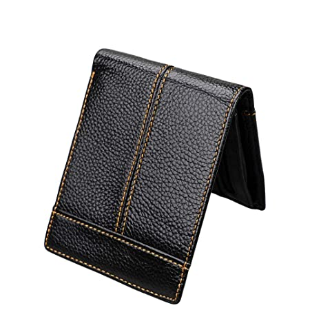 367f8ec8c954 Amazon.com: Imzoeyff Men's Black Soft Genuine Leather RFID Blocking ...