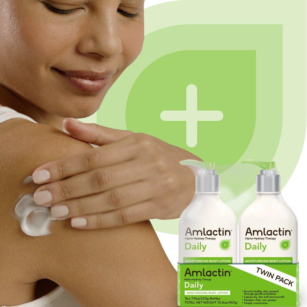 AmLactin Daily Moisturizing Body Lotion Twin Pack, (2) 7.9 Ounce Bottles, Paraben Free by AmLactin (Image #4)