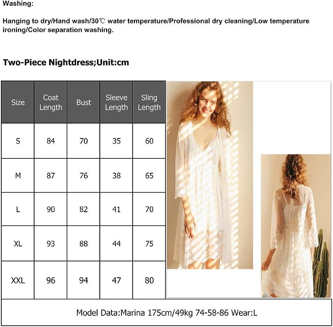 da Salotto a Maniche Lunghe in Cotone Bianco Stile Casual Camicia da Notte da Donna OCCIENTEC Stile Vittoriano