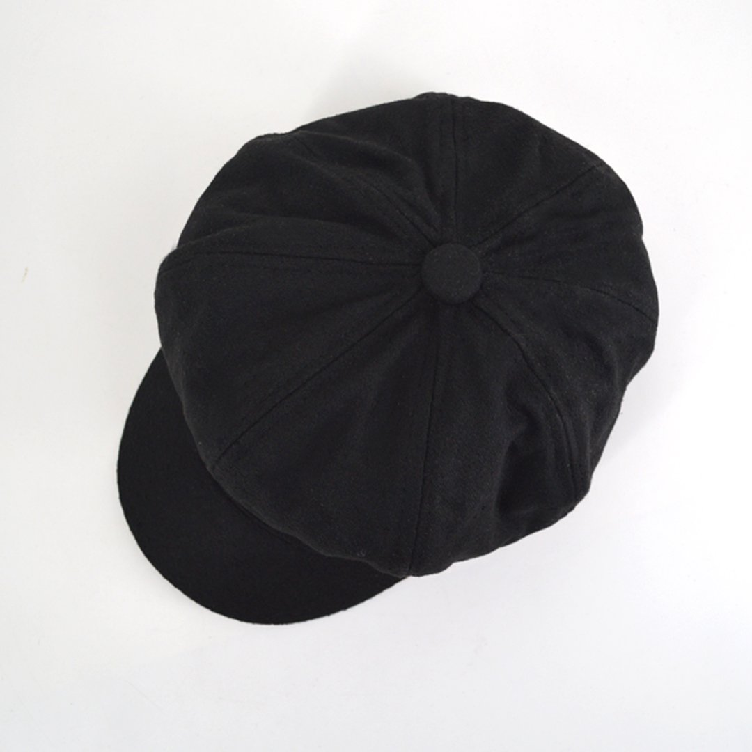 Monique Children Women Vintage Newsboy Cabbie Hat Cap Wide Brim Beret Cap Visor Hat Black
