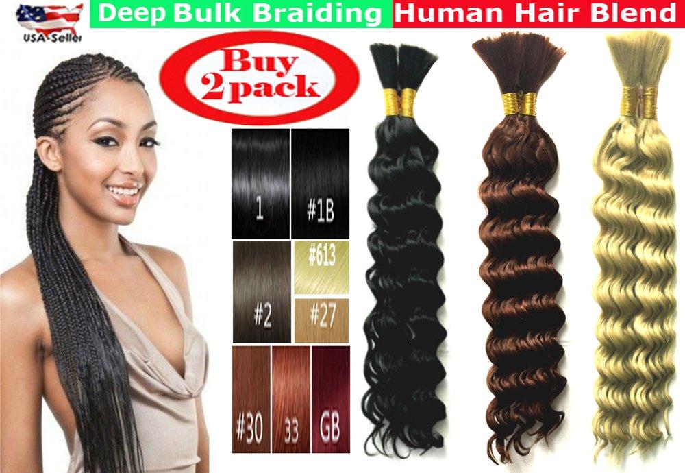 Amazon Deep Bulk Braiding Hair Human Hair Blend Micro Braids