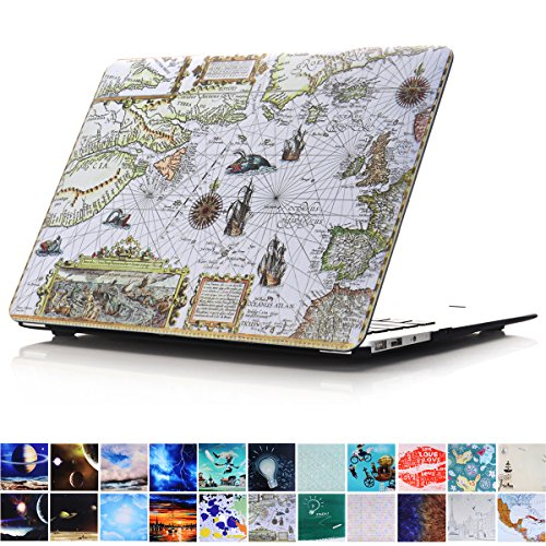 - MacBook Air 13 Case, PapyHall MacBook Air Art Printing Collection Case Plastic Coated Hard Shell Protective Case Cover for Apple MacBook Air 13 inch (Model : A1369 / A1466) - Nautical Map