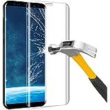 Verre Trempé Samsung Galaxy S8, Ubegood Galaxy S8 Protection D'écran Couverture Complète S8 Film Protection Ultra Résistant Ultra-transparent Film Protecteur D'écran pour Galaxy S8 Screen Protector