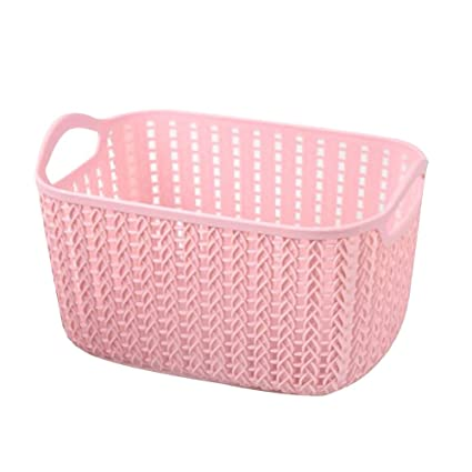 Genial Havenport Woven Plastic Storage Baskets Plastic Stackable Storage Bins For  Food Fruits Files Mixed Color Storage