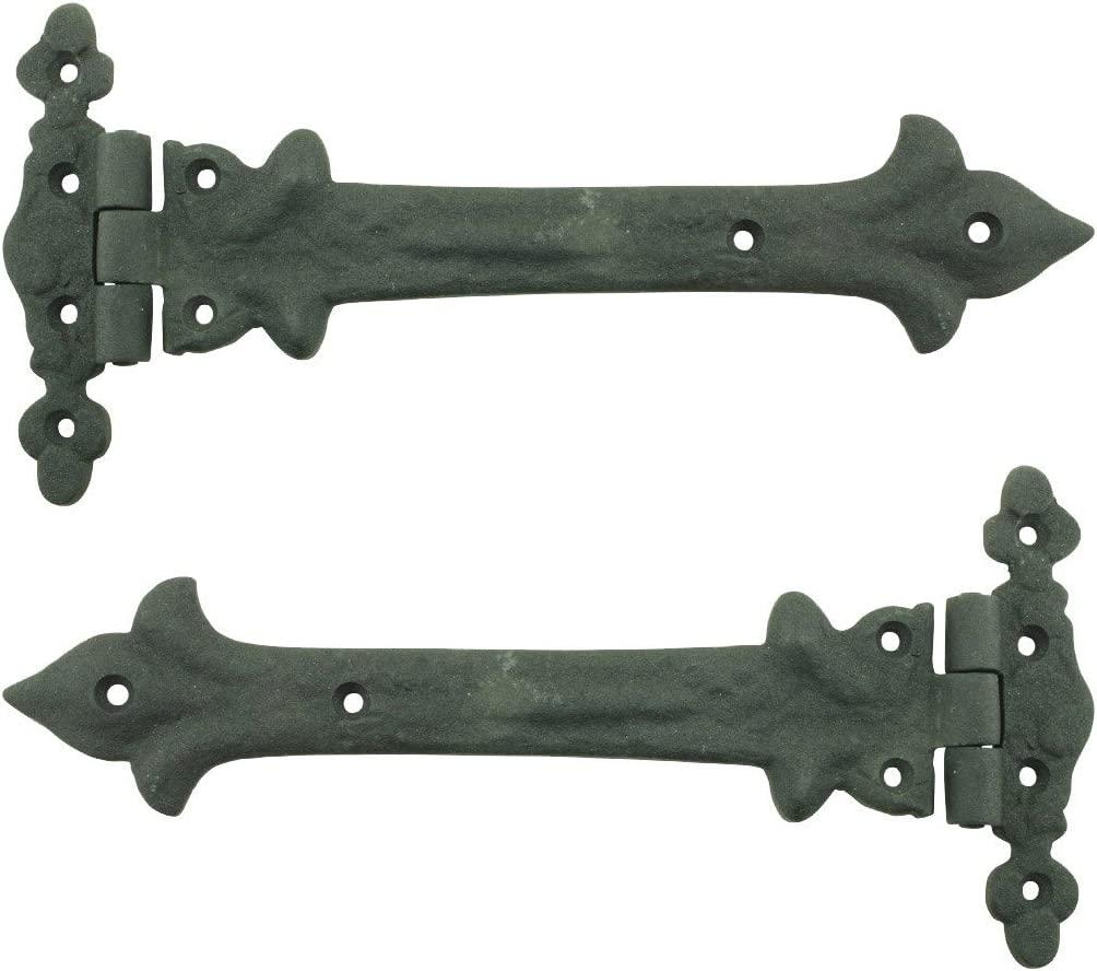 Wrought Iron Door Strap Hinge 9 Length Southern Charm Design Pack Of 3 Renovators Supply