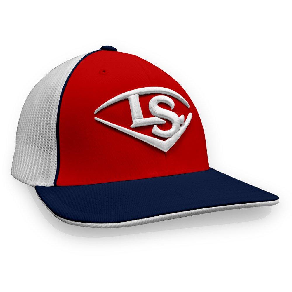 Louisville Slugger LS刺繍ロゴ野球/ソフトボールTrucker Hat B079YZWBLZ Large/XL|レッド/ネイビー/ホワイト レッド/ネイビー/ホワイト Large/XL