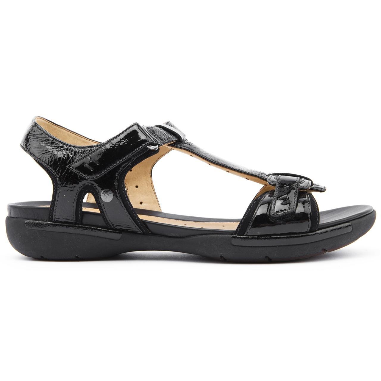 9d1d2213b8d7c Clarks Ladies Voshell Black Flat Sandals Size 9  Amazon.co.uk  Shoes   Bags