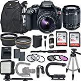 Canon EOS Rebel T6 DSLR Camera with Canon EF-S 18-55mm f/3.5-5.6 IS II Lens + NEW VIDEO BUNDLE KIT + EXTRA MEMORY CARDS