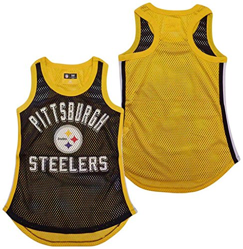 G-III 4her by Carl Banks Pittsburgh Steelers Women's Black Comeback Mesh Tank Top ()