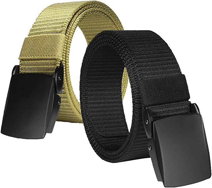 ROFIFY Mens Nylon Canvas Military Tactical Style Belt Plastic Buckle Web Belts