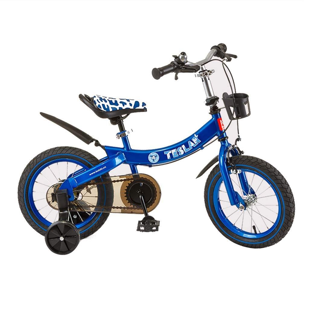 ブルーボーイバイク写真ブルーボーイバイクレッドガールバイク写真レッドガールバイクキッズバイク学生用自転車アウトドアスポーツ用自転車12,14,16インチの自転車子供のための最高の贈り物自転車2-8歳 (Color : Blue, Size : 12inches) 12inches Blue B07P2L257S