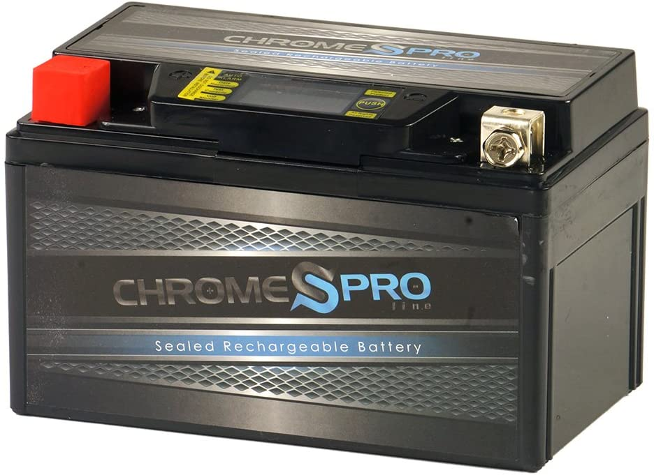 <strong>Chrome Battery Replacement YTX7A-BS Motorcycle Battery</strong>}