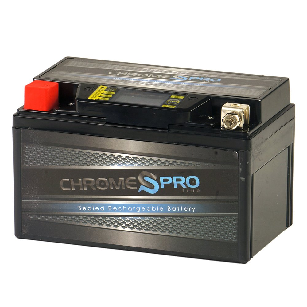 Replacement YTX7A-BS Motorcycle Battery - Rechargeable - High Performance - Sealed Maintenance Free - iGel Chrome Pro Battery