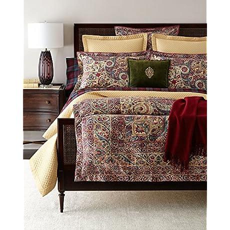 Ralph Lauren Bohemian Muse Larson 5 PIECE King Comforter Bundle Set