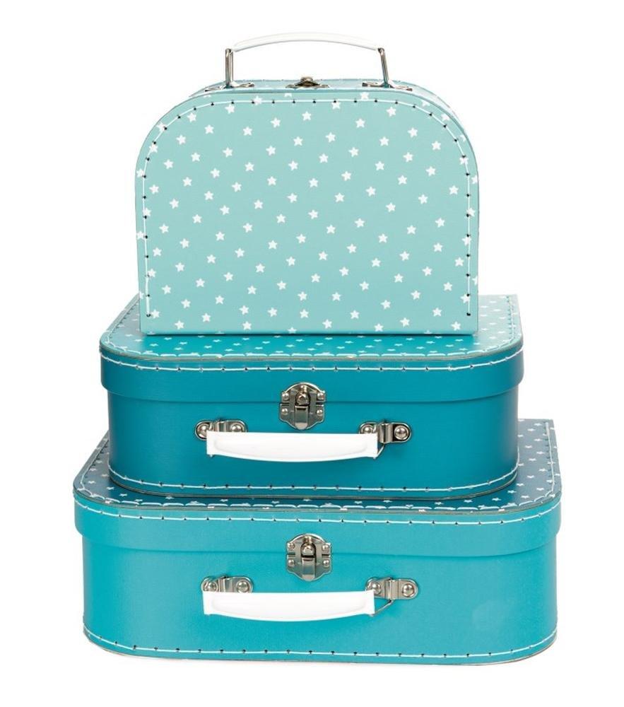 Set de 3 valisettes en carton bleu /à /étoiles blanches 530132 Egmont Toys