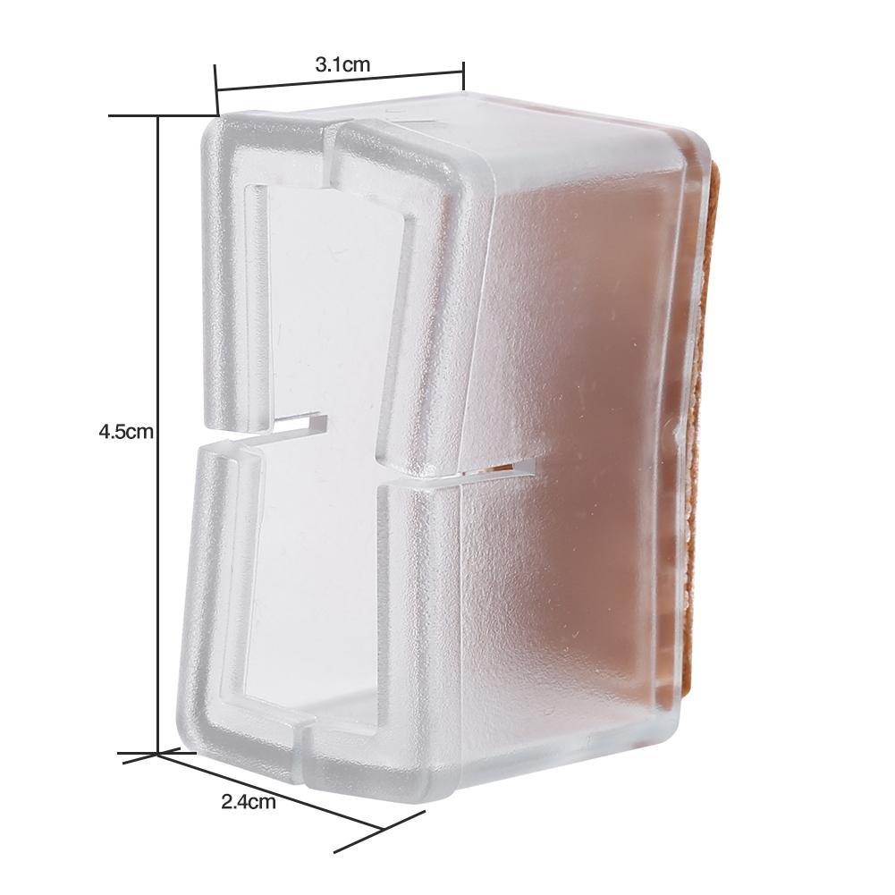 para muebles protecci/ón de patas con suela de goma tablas patas cubiertas rectangulares 8 tapas para patas de silla de silicona