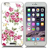 New Apple iPhone 6 s Plus 5.5-inch CocoZ? Case Beautiful roses flowers designs TPU (Transparent TPU& Rose Flowers 26)