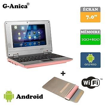 Tablet ordenador portátil Netbook Android 4.2 HDMI écr.7 (Wifi-SD-MMC) + bolsa de ordenador portátil rosa rose 7: Amazon.es: Informática