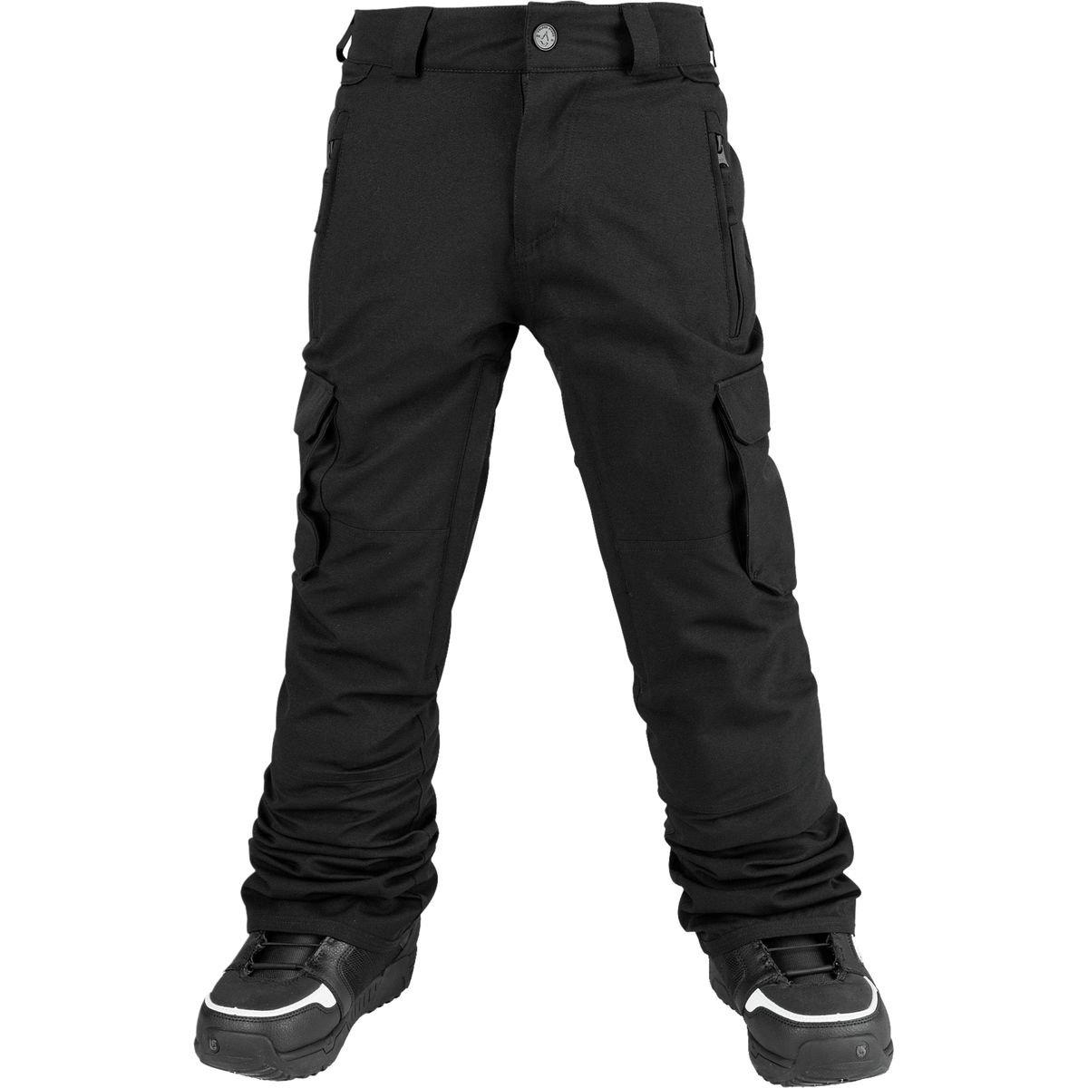 Volcom Big Boys' Cargo Insulated Pant, Black, S