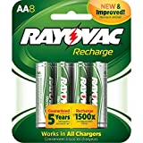 Rayovac LD715-8OP GEN Precharged NiMH AA Card Batteries, 8-Pack