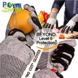 Powa Surge Brand Advanced NO CUT Food Grade Gloves Cut Resistant Superior Finger Protection, Hand Protection, Original High-Performance Gloves. LEVEL 5 Protection Cutting & Slicing Safety Work Gloves