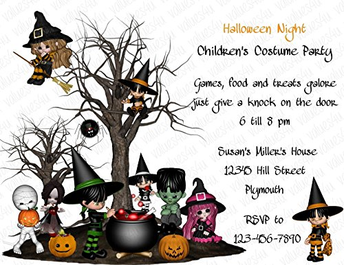 Personalized Halloween Invitation (halloween128) (sold in packs of (Personalized Halloween Invitations)