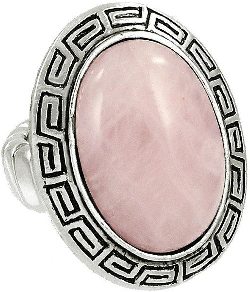 Falari - anillo estirable de talla única con piedra natural con forma oval.