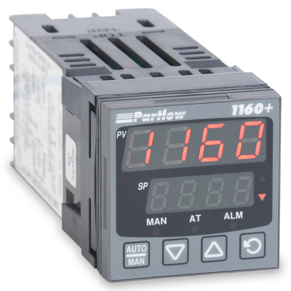 Partlow P1160100000 1160+ Series 1/16 DIN Temperature Controller, 100 to 240 VAC, One relay Output, Red Upper/Red Lower Display
