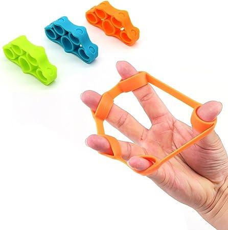 Ejercitador de estiramiento de dedos, fortalecedores de dedos de guitarra y agarres de escalada, 3 niveles diferentes