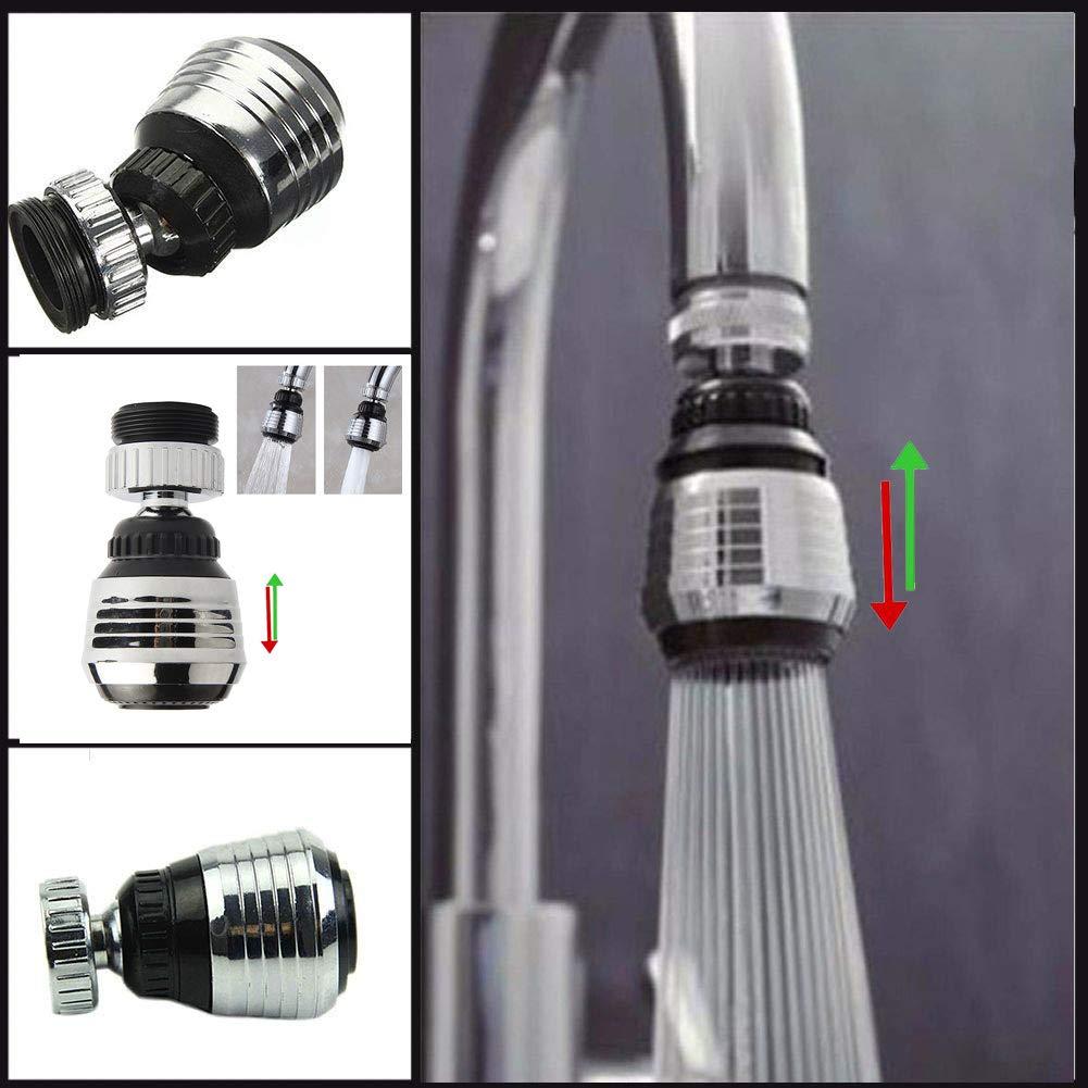 A/érateur de robinet Rotation /à 360//° support pivotant /économie deau filtre robinet de cuisine connecteur