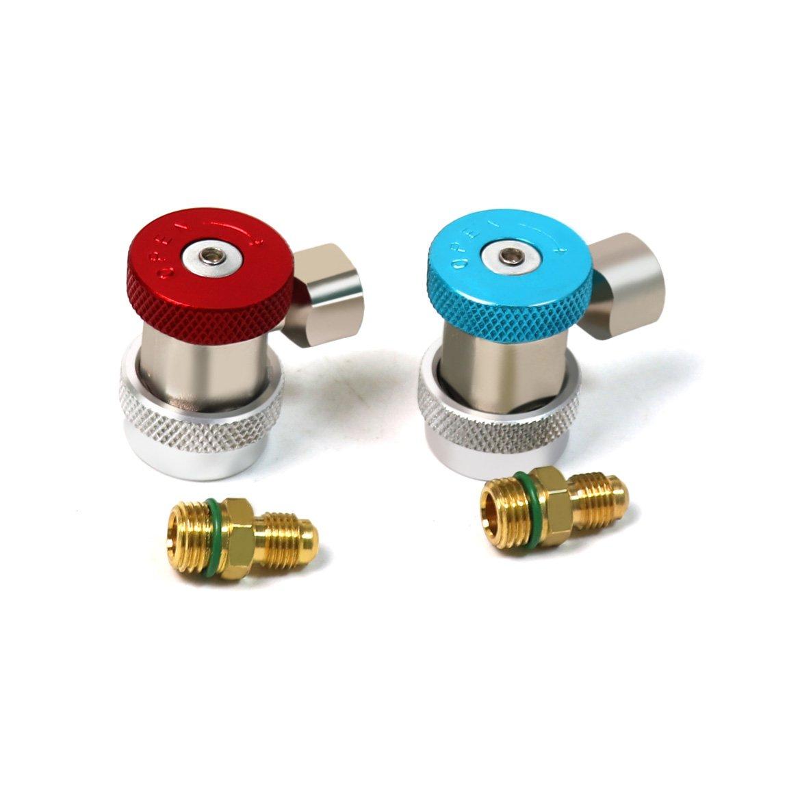 High /& Low Pressure1//4 Zoll SAE HVAC Auto Klimaanlage Adapter ATOPLEE Ac R134a System Port Schnellwechsler-Stecker-Adapter