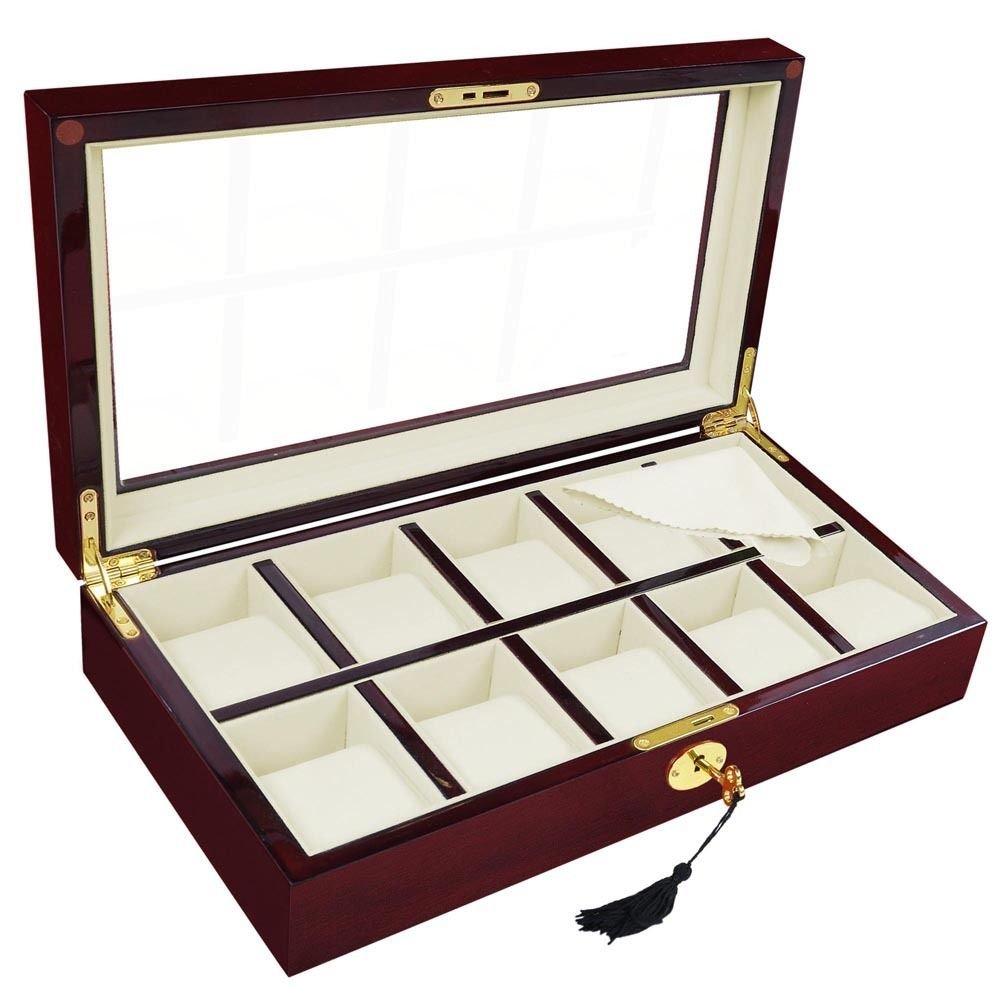 CHIMAERA 10-Slot Luxury Watch Display Case in Fine Wood