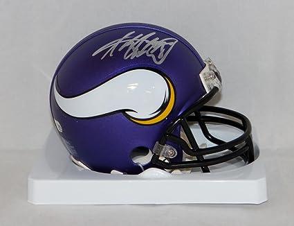 0e5784bd Amazon.com: Adrian Peterson Autographed Minnesota Vikings Mini ...