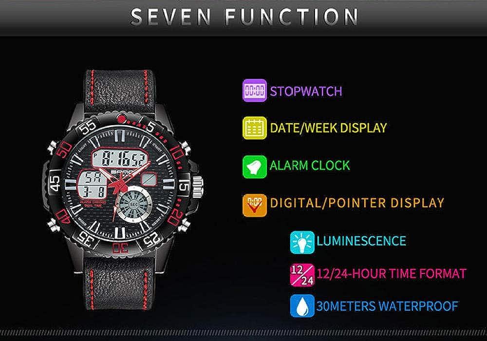 Orologi da polso Orologio Elettronico Impermeabile Digitale Multifunzionale Di Tendenza Moda Orologio Da Uomo Quadrante Grande Red